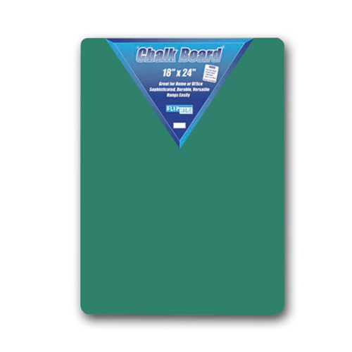 "Flipside 18"" x 24"" Hardboard Backed Green Chalkboards - 12pk (FS-10104) Image 1"