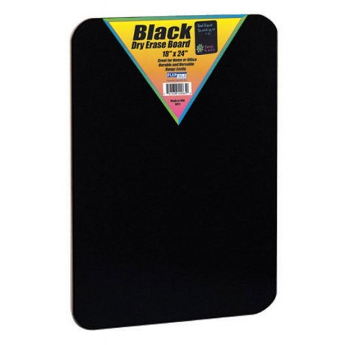 "Flipside 18"" x 24"" Hardboard Backed Unframed Black Dry Erase Boards - 24pk (FS-40085) - $93.59 Image 1"