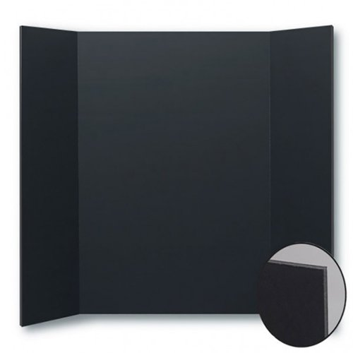 "Flipside 18"" x 24"" Total Black Foam Project Boards - 24pk (FS-31630) Image 1"