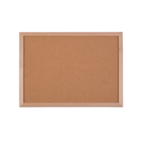 "Flipside 24"" x 36"" Wood Framed Natural Cork Board (FS-10300) Image 1"