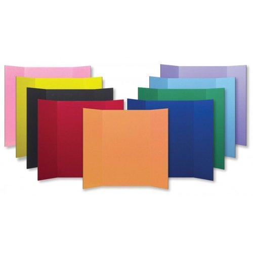"""Flipside 18"""" x 48"""" 1-Ply Assorted Colored Corrugated Project Boards - 24pk (FS-18485) Image 1"""