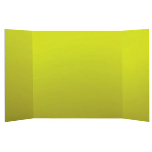 "Flipside 18"" x 48"" 1-Ply Yellow Corrugated Project Boards - 24pk (FS-18490) Image 1"