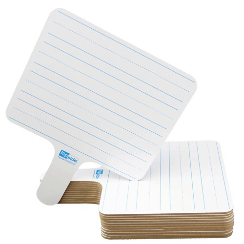 Flipside Two-Sided Rectangular Dry-Erase Writing Paddles - 12pk (FS-18122) Image 1