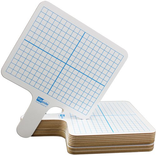 Flipside Two-Sided Rectangular Dry-Erase Graphing Paddles - 12pk (FS-18124), Flipside brand Image 1