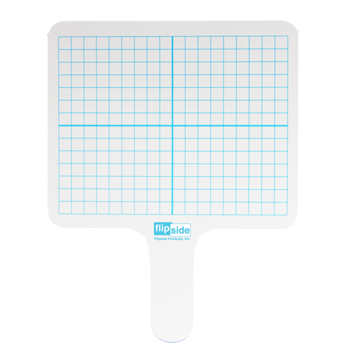 Flipside Two-Sided Rectangular Dry-Erase Graphing Paddles (FS-RGP) Image 1