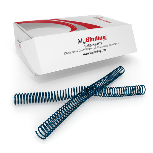18mm Wedgewood Blue 4:1 Pitch Spiral Binding Coil - 100pk (P4WB1812), Binding Supplies Image 1