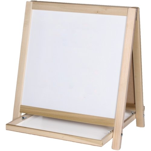 Flipside Two-Sided Magnetic Dry-Erase Table Top Easel with Wood Frame (FS-19306) Image 1