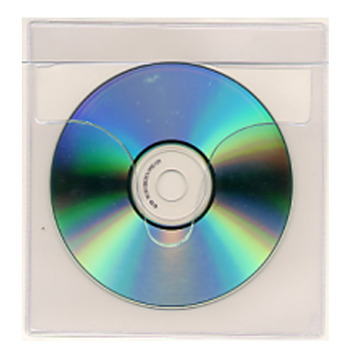 "5-3/4"" x 6"" Tamper Proof Adhesive CD DVD Holders - 100pk (1944-CD) Image 1"