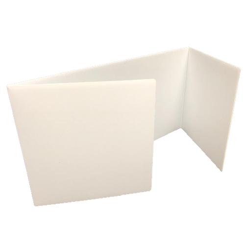 "Flipside 12"" x 48"" White Corrugated Plastic Study Carrels - 24pk (FS-19972-24) Image 1"