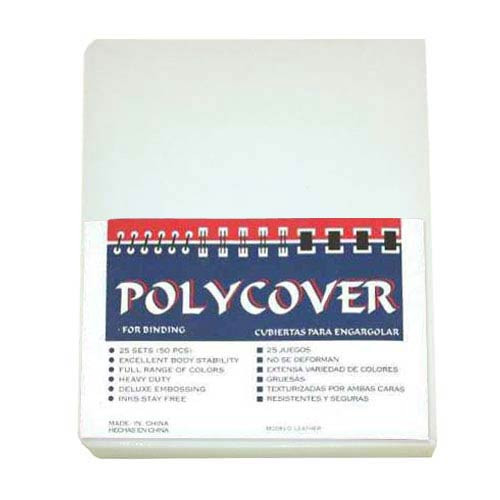 19mil Clear Leather Grain Poly Covers (MYLGC19CR) Image 1