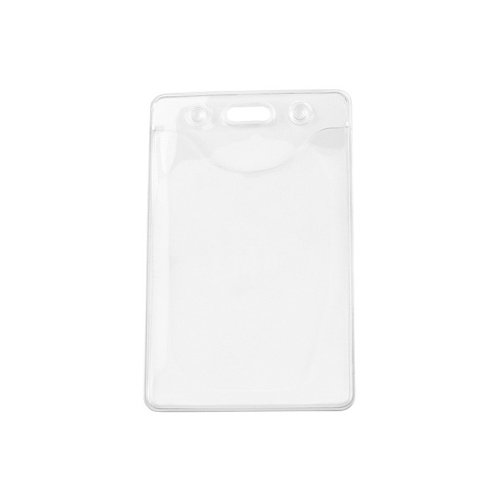 Clear Vinyl Eco-Friendly Badge Holders with Slot/Chain Holes - 100pk (1815-112) Image 1