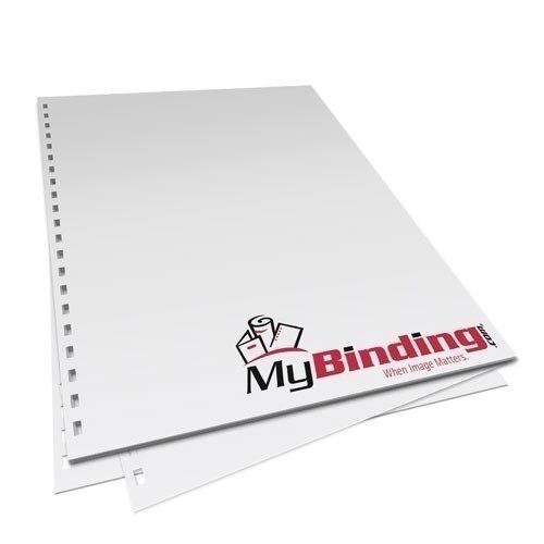 """8.5"""" x 14"""" 28lb 2:1 Wire Pre-Punched Binding Paper - 1250 Sheets (MY8.5X1421WBPBP28CS), Binding Supplies Image 1"""