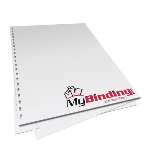 """11"""" x 17"""" 32lb 2:1 Wire Pre-Punched Binding Paper - 250 Sheets (MY21WBH11x17PP32), Binding Supplies Image 1"""