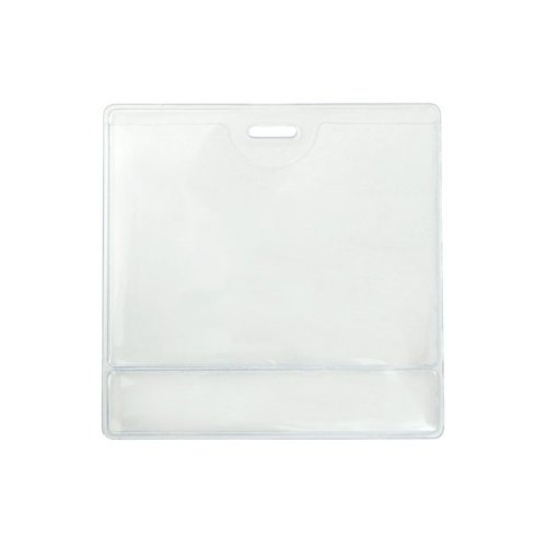 "2.25"" x 3.38"" Data Card Size Clear Vinyl Horizontal Display Badge Holder - 100pk (504-T1LS) Image 1"