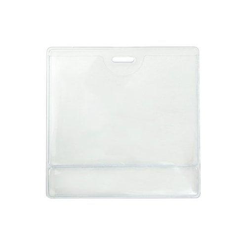 "2.25"" x 3.38"" Data Card Size Clear Vinyl Horizontal Display Badge Holder - 100pk (504-T1LS), Id Supplies Image 1"