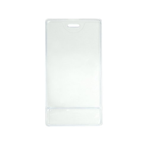 "2.25"" x 3.38"" Data Card Size Clear Vinyl Vertical Display Badge Holder - 100pk (504-NITTS) Image 1"