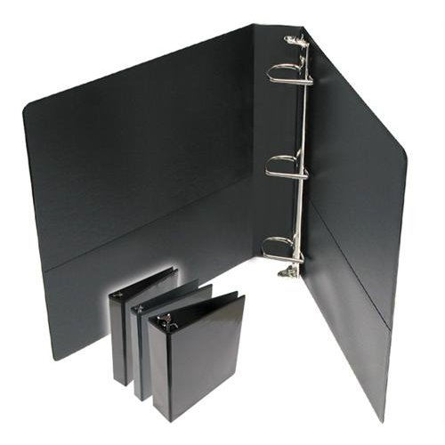 "2.5"" Premium Black D-Ring Clear Overlay View Binders - 12pk (DDRCV250BK) - $100.29 Image 1"