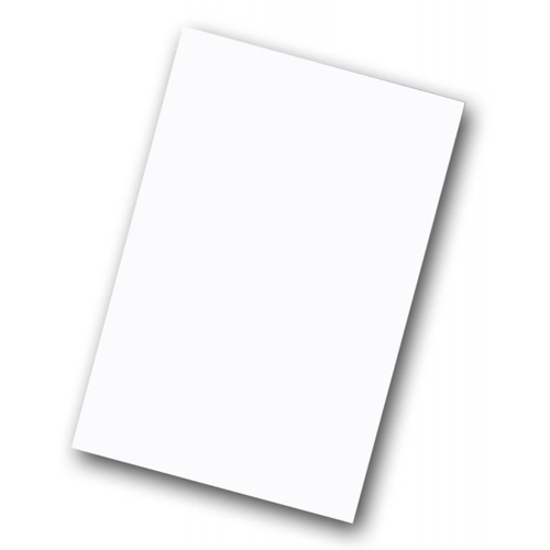 "Flipside 20"" x 28"" White/White Two-Sided Corrugated Cardboard Project Sheets - 25pk (FS-20280)"