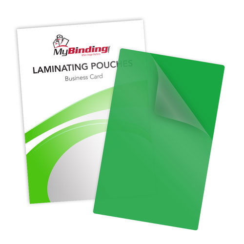 Green 10mil Business Card Laminating Pouches - 100pk (LKLP10BUSINESSGR)