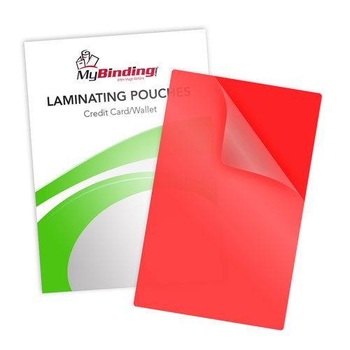 Red Credit Card Laminating Pouches Image 1