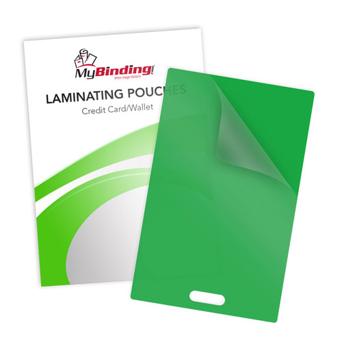 Green 10mil Credit Card Pouches with Short Side Slot (SSLLKLP10CREDITGR) Image 1