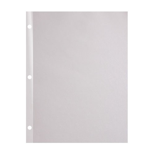 "24lb 8.5"" x 11"" 3-Hole Punched Reinforced Edge Paper - 100 Sheets (24RE38511PK) Image 1"