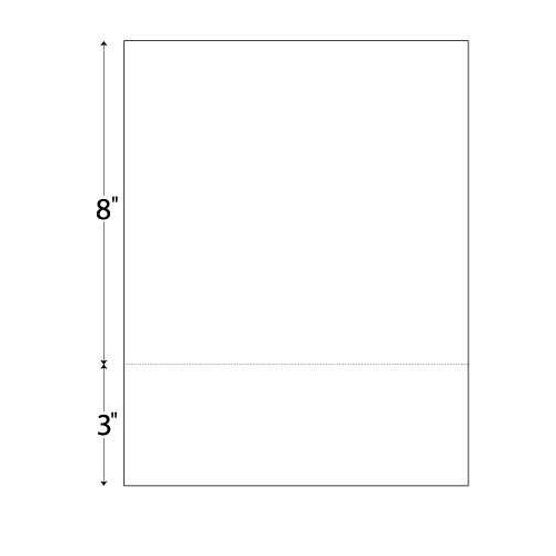 "Performance Office Papers 20lb Horizontal 8.5"" X 11"" Perforated Paper @ 3"" Case (POP81058) Image 1"