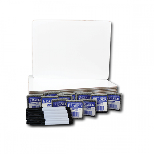 "9"" x 12"" Dry Erase Lap Board with Pen and Student Eraser - Set of 12 Each (FS-1003) Image 1"