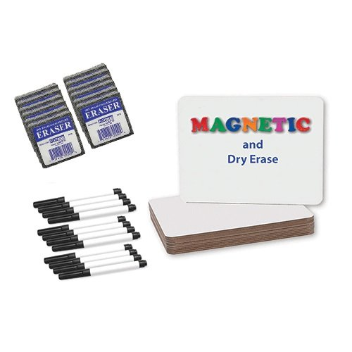 "Flipside 9"" x 12"" Magnetic Dry Erase Lap Board with Black Pen and Eraser - Set of 12 Each (FS-21004), Boards Image 1"