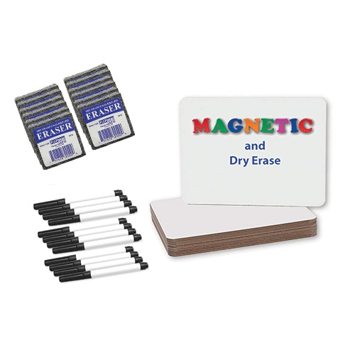 "Flipside 9"" x 12"" Magnetic Dry Erase Lap Board with Pen and Eraser - Set of 12 Each (FS-1004) Image 1"