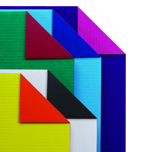 "Flipside 22"" x 28"" Assorted Colored Two-Sided Corrugated Cardboard Project Sheets - 25pk (FS-26500)"