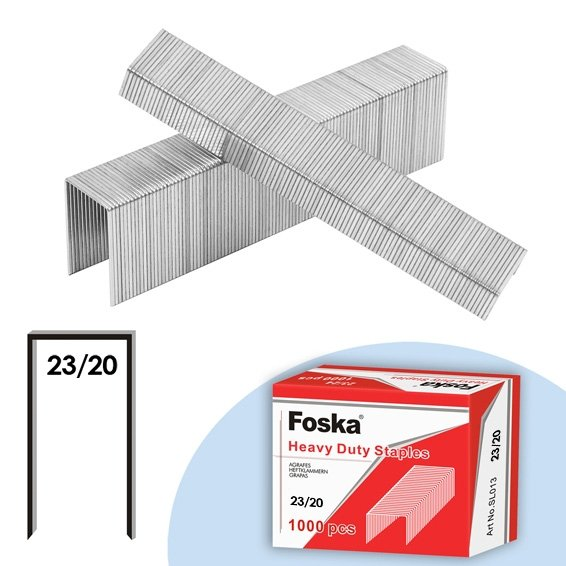 "Lassco Wizer Foska 13/16"" Heavy-Duty Staples for Skrebba W117R, W117L, and W115 Staplers (W118-F) Image 1"