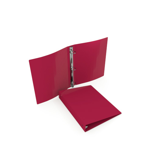 Gauge Maroon Poly Round Ring Binders Image 1