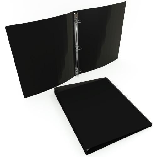 """23 Gauge Black 11"""" x 8.5"""" Poly Round Ring Binders - 100pk (MYPBBLK23) - $517.2 Image 1"""