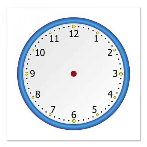 "Frameworks 24"" x 24"" Blank Clock Face Chart Dry-Erase Static Cling Film - 3pk (FW-90002) Image 1"