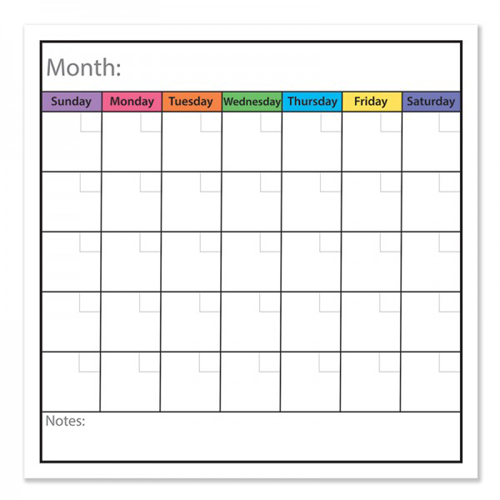 "Frameworks 24"" x 24"" Monthly Calendar Chart Dry-Erase Film w/ Adhesive Backing - 3pk (FW-90203) - $59.97 Image 1"