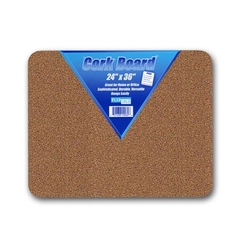 "Flipside 24"" x 36"" Unframed Natural Cork Bulletin Boards - 12pk (FS-10096) Image 1"