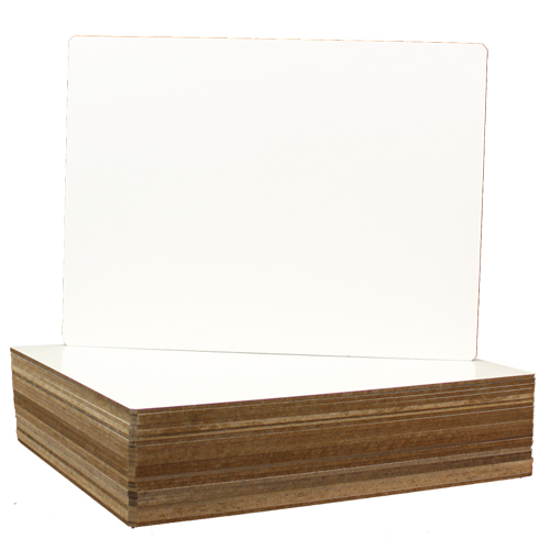 "Flipside 9"" x 12"" Unframed Dry-Erase Lap Boards with Nipped Corners - 24pk (FS-24912) - $44.06 Image 1"