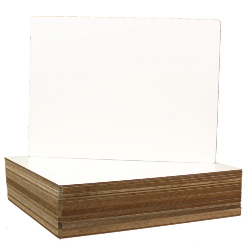 "Flipside 9"" x 12"" Unframed Dry-Erase Lap Boards with Nipped Corners - 24pk (FS-24912) Image 1"