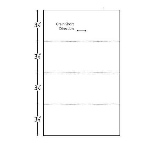 "Performance Office Papers 24lb Horizontal 8.5"" X 14"" Perforated Paper Every 3.5"" (POP84403) Image 1"