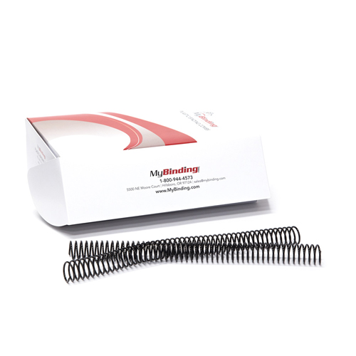 25mm Black Eco-Coil 4:1 Recycled Spiral Binding Coils - 100pk (P203EC-25-12) Image 1