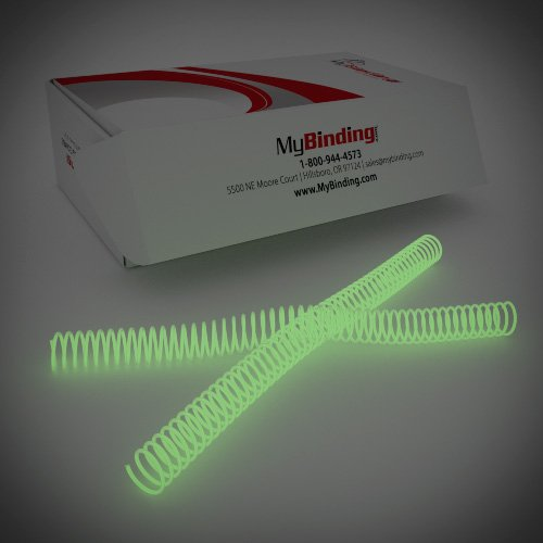 25mm Glow in the Dark 4:1 Pitch Spiral Binding Coil - 100pk (P4GID2512) Image 1