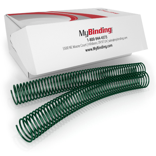28mm Forest Green 4:1 Pitch Spiral Binding Coil - 100pk (P115-28-12) - $63.79 Image 1