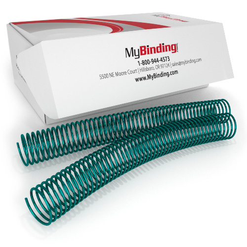 28mm Green 4:1 Pitch Spiral Binding Coil - 100pk (P4G2812) Image 1
