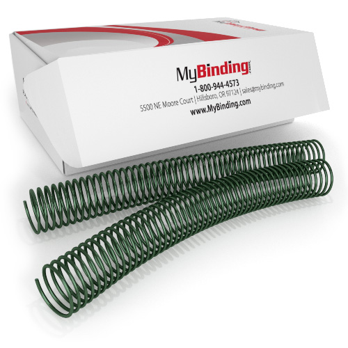 28mm Metallic Forest 4:1 Pitch Spiral Binding Coil - 100pk (P4MF2812), Binding Supplies Image 1