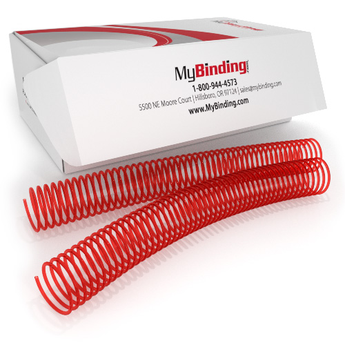 28mm Neon Red 4:1 Pitch Spiral Binding Coil - 100pk (P4NR2812) Image 1