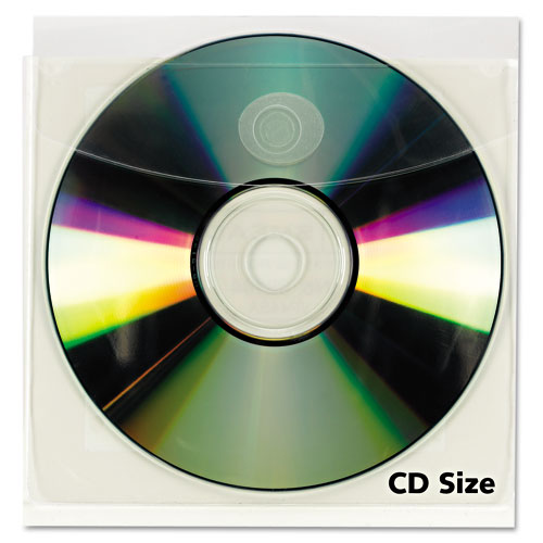 "3-1/2"" x 3-1/2"" Adhesive Back Mini CD Holders - 100pk (STB-3144) Image 1"