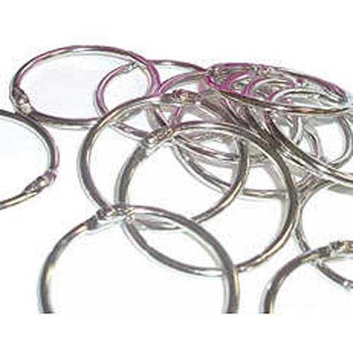 "3/4"" Metal Loose Leaf Rings - 100pk (MYBR034S) Image 1"