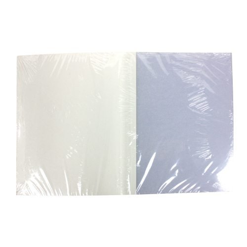 "3/8"" White Grain ThermaBind Covers (25pk) (2513532)"
