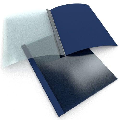 "3/8"" Navy Linen Thermal Binding Utility Covers - 100pk (BI380NV) Image 1"